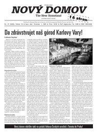 Da zdrávstvujet naš górod Karlovy Vary! - Nového Domova