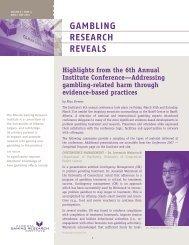 Issue 4, Volume 6 - April / May 2007 - Alberta Gambling Research ...