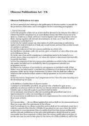 Obscene Publications Act - UK