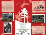 an informational brochure about the Holiday Express - UT Gardens