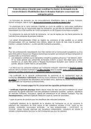 Constitution du dossier de demande d'habilitation