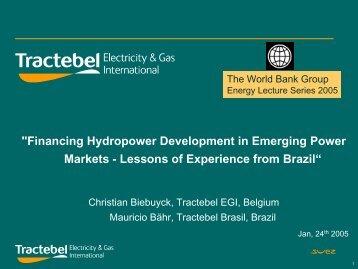 """Financing Hydropower Development in Emerging Power Markets ..."