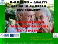 Q-AGEING – QUALITY - Q-AGEING project