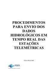 Procedimentos para Envio de Dados Hidrológicos em Tempo ... - Ana