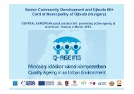 Senior Community Development and Újbuda 60 ... - Q-AGEING project