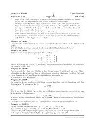 Universität Rostock Mathematik für Klausur 05.08.2011 Gruppe A ...