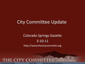 Initial Report - The City Committee
