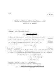 Klausur zur Mathematik für Maschinentechniker