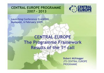 CENTRAL EUROPE The Programme ... - Q-AGEING project