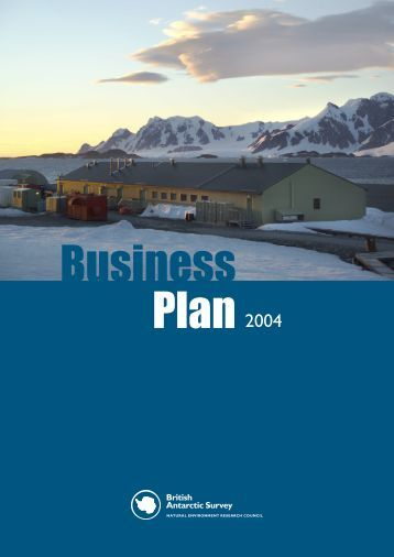 Business Plan cover.indd - British Antarctic Survey