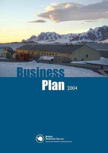 Business Plan cover.indd - British Antarctic Survey