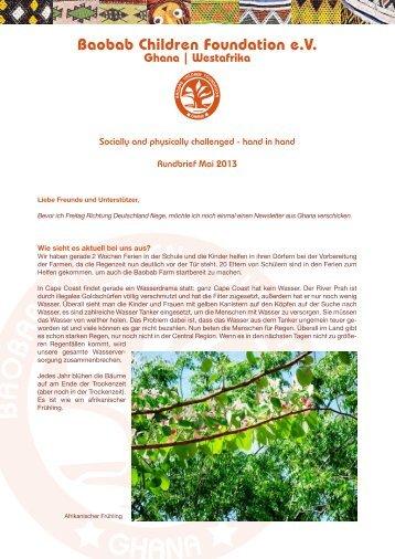 Newsletter bitte anklicken! - Baobab Children Foundation eV