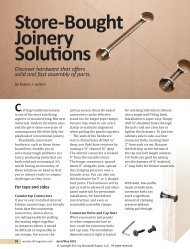 34 Joinery-4 JH-Joe-PA-LM.indd - Woodcraft Magazine
