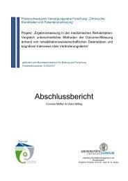 Abschlussbericht Outcome - Chronische Krankheiten und ...
