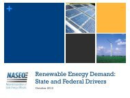 Renewable Energy Demand: State and Federal Drivers - National ...