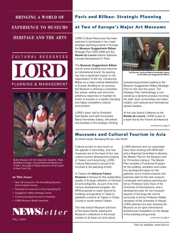 Fall 2004 Newsletter-Final.qxd - Lord Cultural Resources