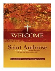 November 25, 2012 - Saint Ambrose Parish