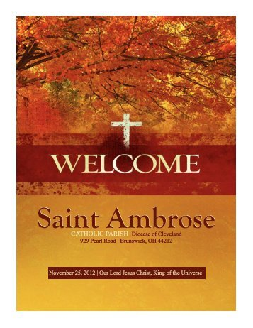 November 25, 2012 - Saint Ambrose Parish