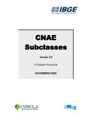 Notas Explicativas da CNAE 2.0