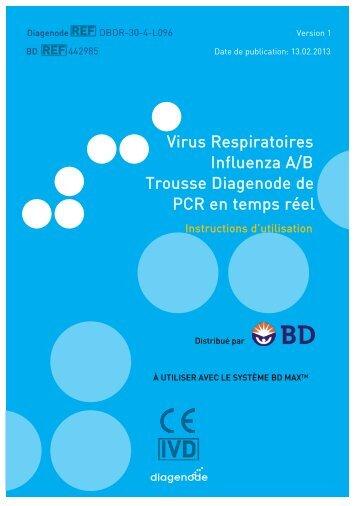 Virus Respiratoires Influenza A/B Trousse Diagenode de . PCR en ...