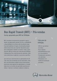 Bus Rapid Transit (BRT) – Pós-vendas - Mercedes-Benz BRT