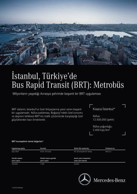 İstanbul, Türkiye'de Bus Rapid Transit (BRT): Metrobüs