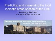 Talk - Laboratory of Experimental High Energy Physics - The ...