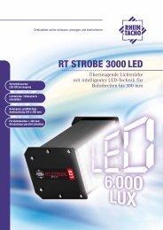 RT STROBE 3000 LED - RHEINTACHO Messtechnik GmbH