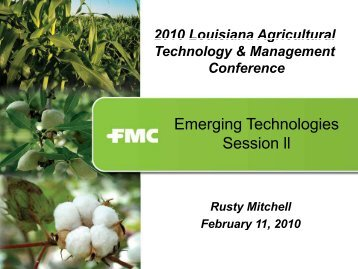 FMC Corporation - Louisiana Agricultural Consultants Association ...