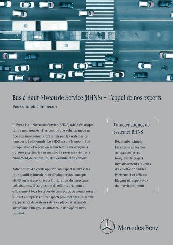 Bus à Haut Niveau de Service (BHNS) – L'appui de nos experts