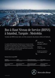 à Istanbul, Turquie : Metrobüs - Mercedes-Benz BRT
