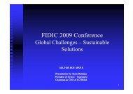 FIDIC 2009 London Conference: Alain Bentéjac