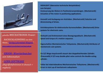 MECHATRONIK-Power: EBOOK- Woerterbuecher LERN-SOFTWARE