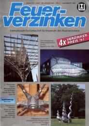 Internationale Fachzeitschrift für Anwender des Feuerverzinkens