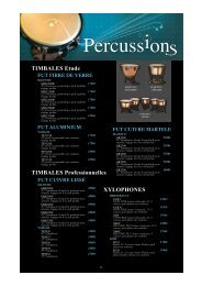 TIMBALES Etude TIMBALES Professionnelles ... - Feeling Musique