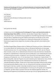 Protestbrief - Konferenz der Einrichtungen für Frauen- und ...