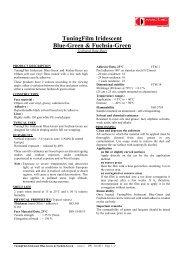 Technical Data Sheet. - All Print Supplies