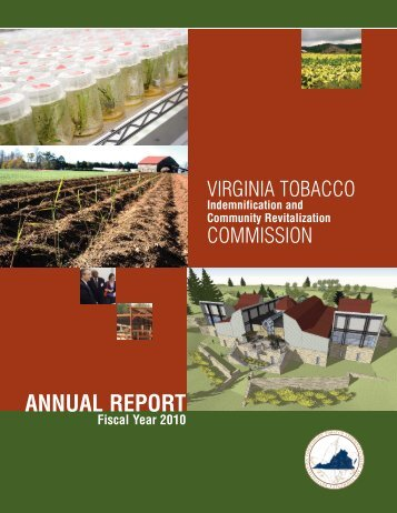 annual report - Virginia Tobacco Indemnification And Community