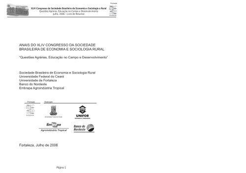 58bb052dffdc ANAIS DO XLIV CONGRESSO DA SOCIEDADE ... - SOBER