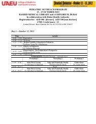 PEDIATRIC OUTREACH PROGRAM 12 - 13 OCTOBER 2012 ...