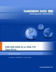 VXA-3 or VXA-172 Tape Drive SCSI Reference - Tandberg Data