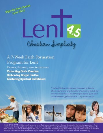 Lent 4.5 Christian Simplicity Brochure/Order Form - Holy Name ...