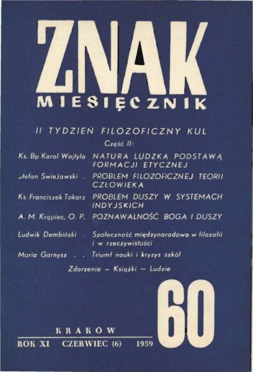 Nr 60, czerwiec 1959 - Znak