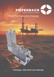 Offshore valves catlogue and data sheet Tiefenbach Control ...