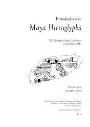 Introduction to Maya Hieroglyphs - Wayeb