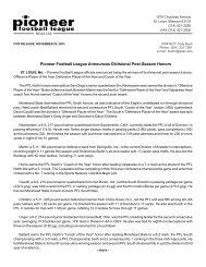 all-conference release - Pioneer Football League