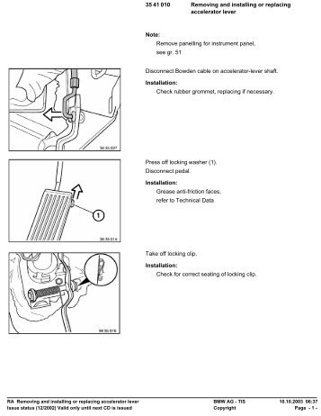 RA Removing and installing or replacing accelerator lever - Ad Kusters