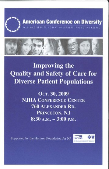 Improving the Quality and Safety of Care for Diverse Patient ...