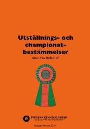Utställnings- och championatbestämmelser - Svenska Taxklubben
