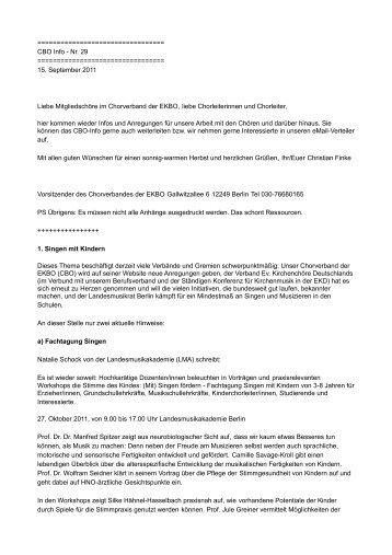CBO Info - Chorverband der Evangelischen Kirche Berlin ...